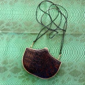 Vintage Del Rio purse brown and gold Costa Rica